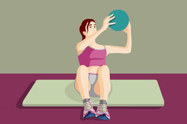 esercizi con la palla medica