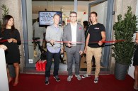 Linus all'inaugurazione del Johnson Fitness Store di Milano