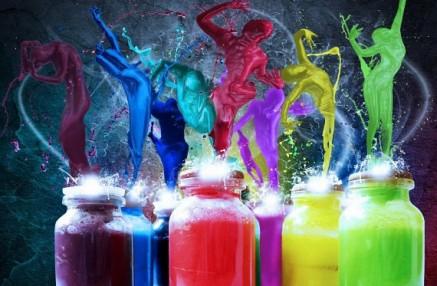 persone colorate